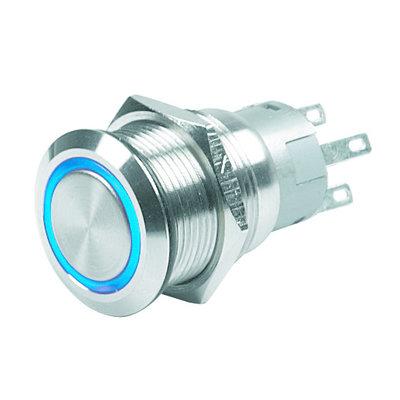 CZone Drukknop voor CZone kort (AAN)/UIT, blauwe LED