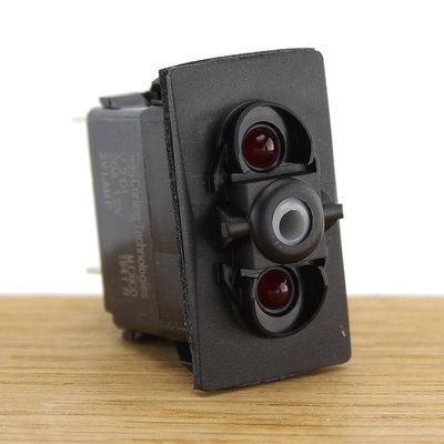 CZone Aangepaste Rocker schakelaar mom (AAN)/UIT, rode LED