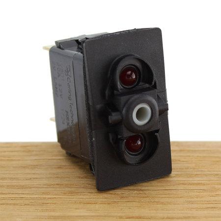 CZone Aangepaste Rocker schakelaar mom (AAN)/UIT/(AAN), blauwe LED