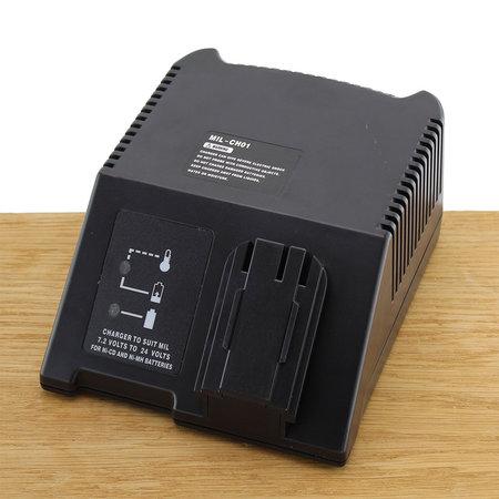 Compatibel lader MIL-CH01 voor AEG, Atlas Copco, Milwaukee 7,2-24V 1,5A