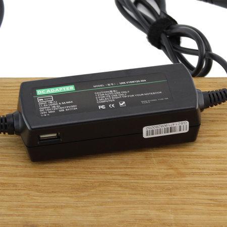 Blu-Basic Laptop oplader AC Adapter 90W | Universeel | USB 2A + 8 plugs | Sigarettenplug