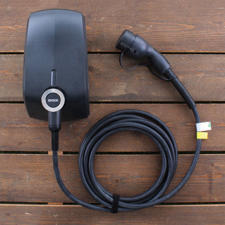 EVBox Elvi 3-fase 16A 11kW Type 2 kabel 6m Wi-Fi Zwart