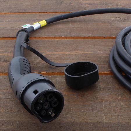 EVBox Elvi 3-fase 32A 22kW Type 2 kabel 6m Wi-Fi/kWh/UMTS Zwart