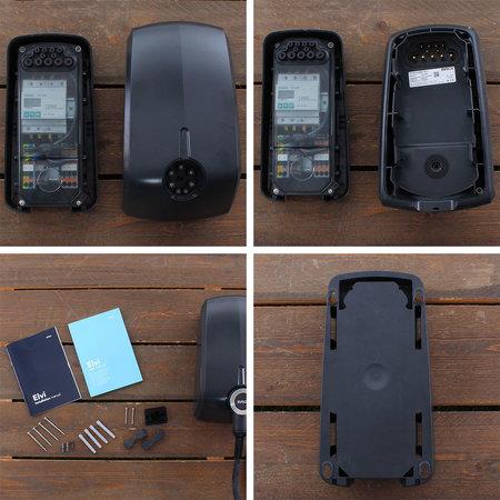 EVBox Elvi 1-fase 32A 7.4kW Type 2 kabel 6m Wi-Fi/kWh/UMTS Zwart