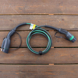 EVBox 1 fase 16A Laadkabel Type 1 - 8 meter