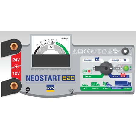 GYS Neostart 620 Acculader/Startbooster 12-24V