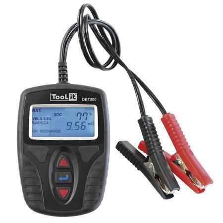 TooLit accutester DBT 300 voor loodaccu's 12V   4-150Ah   LCD   Multifunctioneel