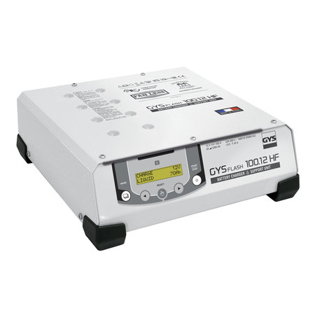 GYS multifunctionele acculader met voeding GYSFLASH 100.12 HF | 100A | 2.5M kabels
