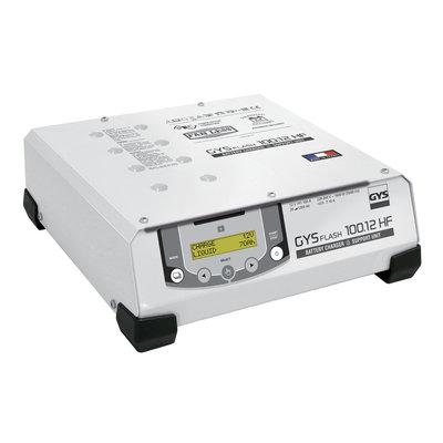 GYS acculader met voeding GYSFLASH 100.12 HF 5M
