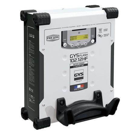 GYS multifunctionele acculader met voeding GYSFLASH 102.12 HF | 100A | 5M kabels