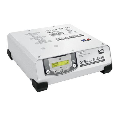 GYS multifunctionele acculader met voeding GYSFLASH 50.24 HF | 6/12/24V | 50A | 2.5M kabels