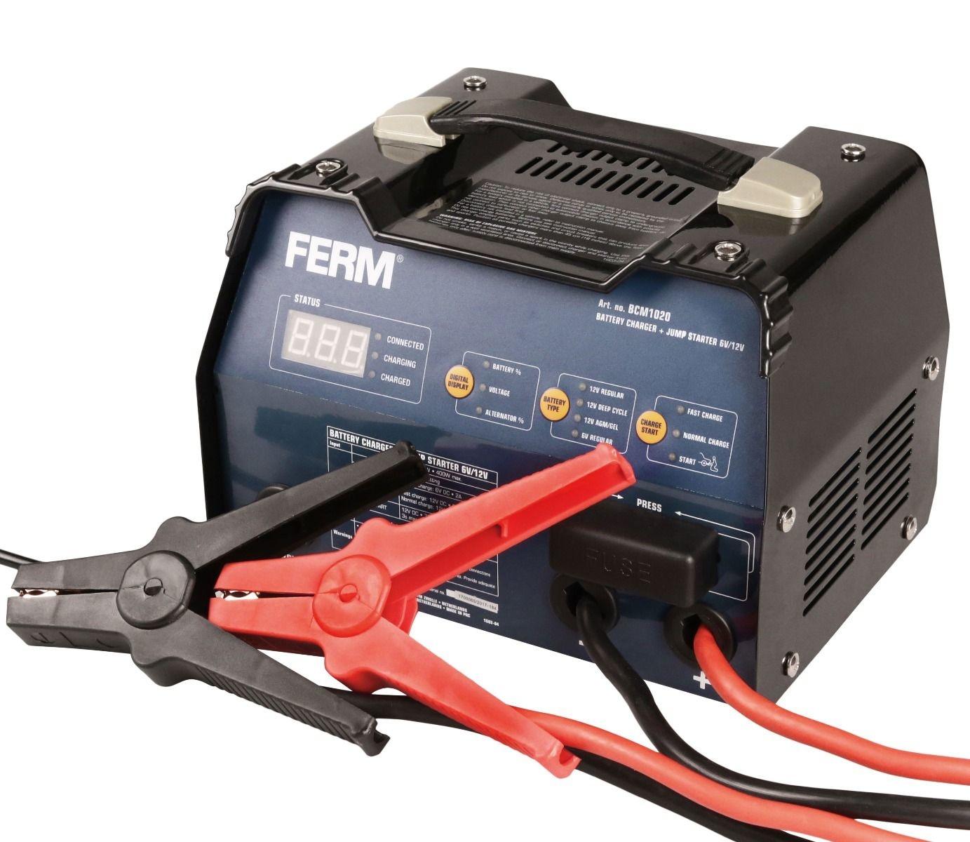 Ferm Acculader met starthulp 6V-12V Fe. BCM1020