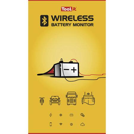 TooLit Wireless accu laadindicator voor 12/24V loodaccu's