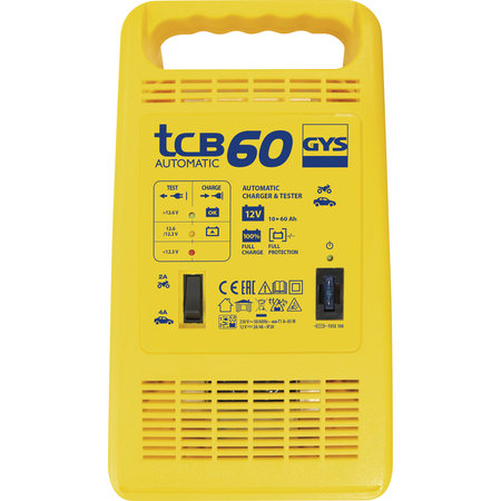 GYS acculader TCB 60 Automatic   12V 2/4A 85W
