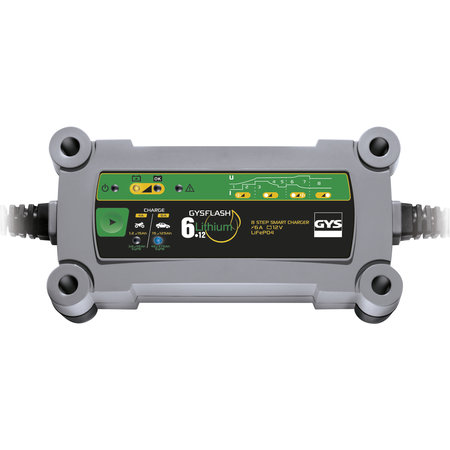 GYS druppellader GYSFLASH Lithium 6.12   12V 6A 90W