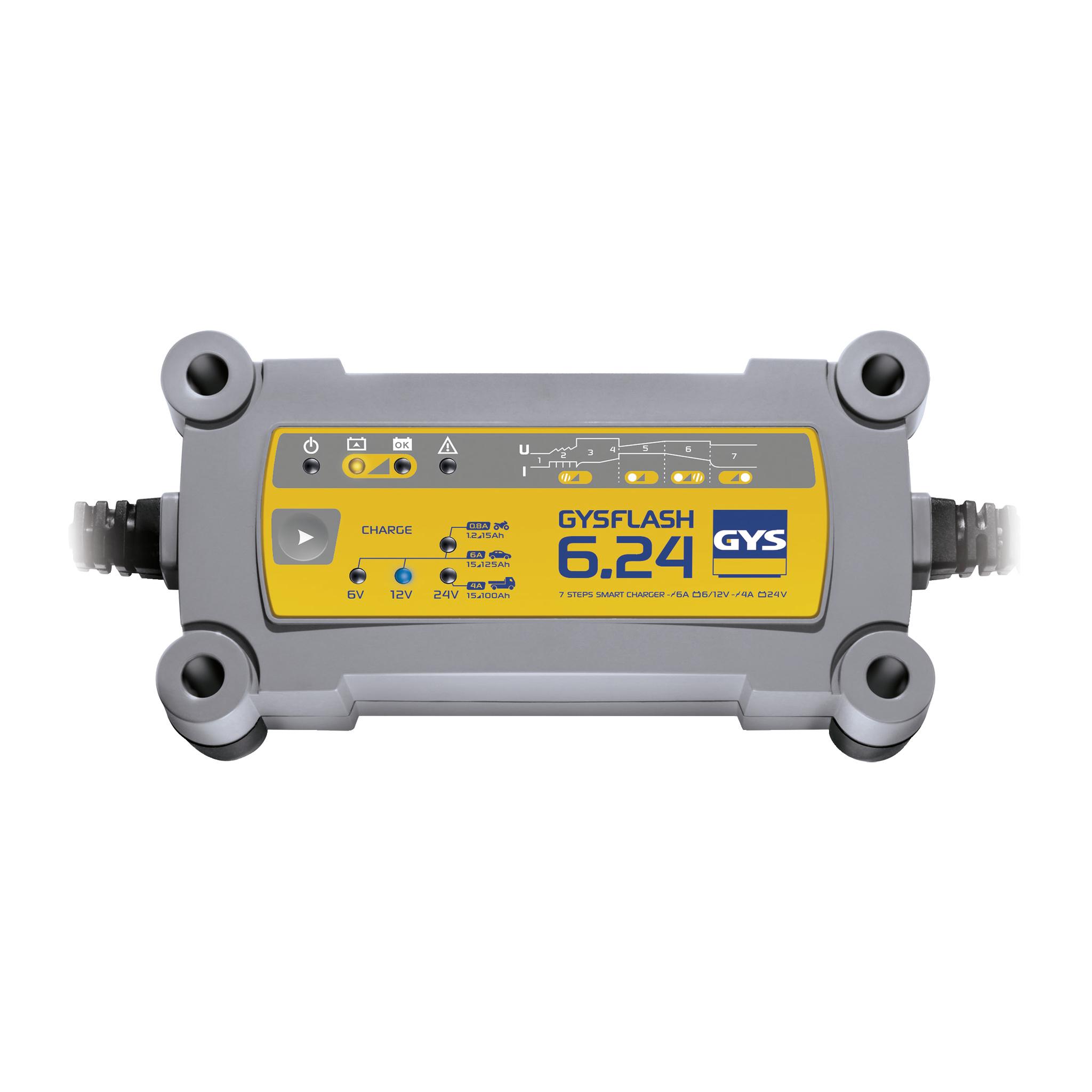 Druppellader GYS GYSFLASH 6.24 6 V, 12 V, 24 V 0.8 A 6 A 4 A