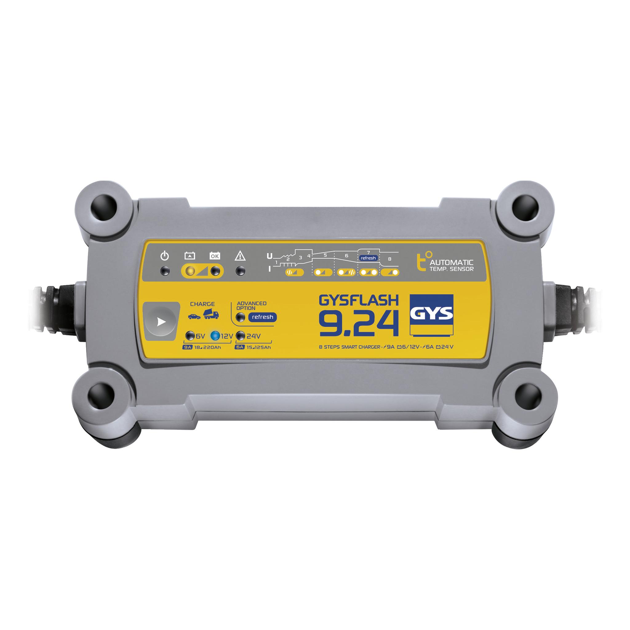 Druppellader GYS GYSFLASH 9.24 6 V, 12 V, 24 V 9 A 9 A 6 A
