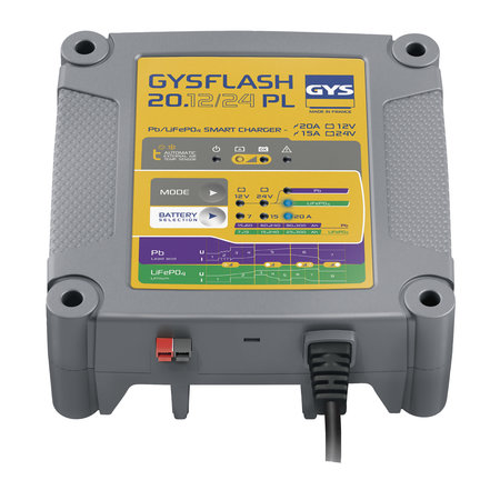 GYS druppellader GYSFLASH 20.12/24 PL | 12/24V 7/15/20A | 480W