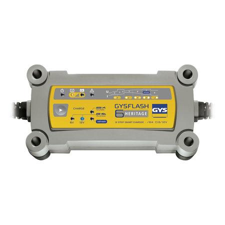 GYS druppellader GYSFLASH Heritage 6A | 6/12V 90W