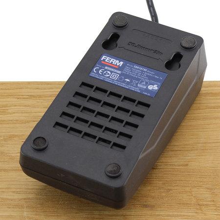 FERM CDA1079S Quick Charger 12.6V 2A voor accuboormachines CDM1109S en CDM1112S