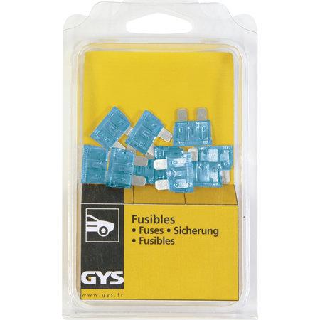 GYS 15A zekering voor GYS laders CT110, CT120, CT124, CA60, CA90, CA125, CA130 en CA9/24