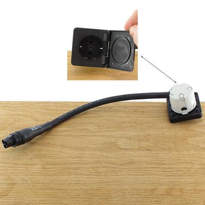 Ratio Wandcontactdoos enkelvoudig zwart 16A