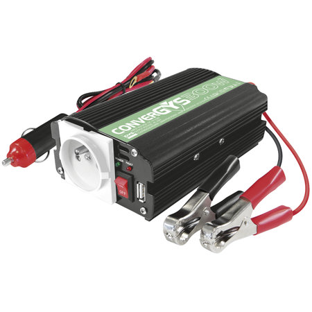 GYS Convergys 300 - 12V/300W | Inverter via sigarettenaansteker-plug / accuklemmen