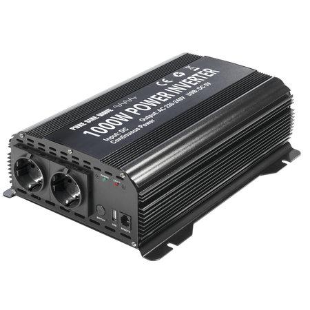 GYS PSW 1000W 12V | Omvormer / inverter | 2 x 230V Schuko + 5V USB