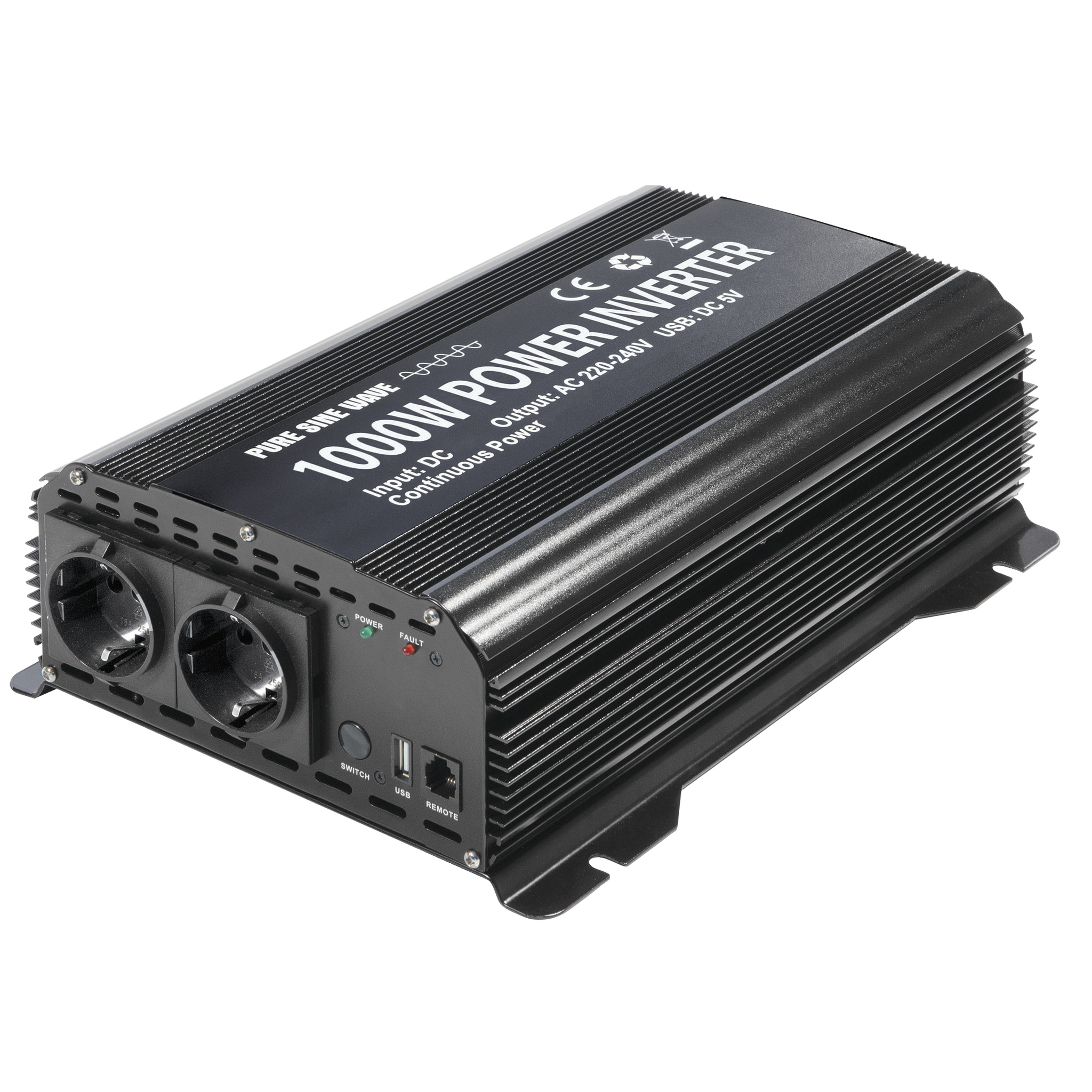 Omvormer-inverter PSW 1000W 12V