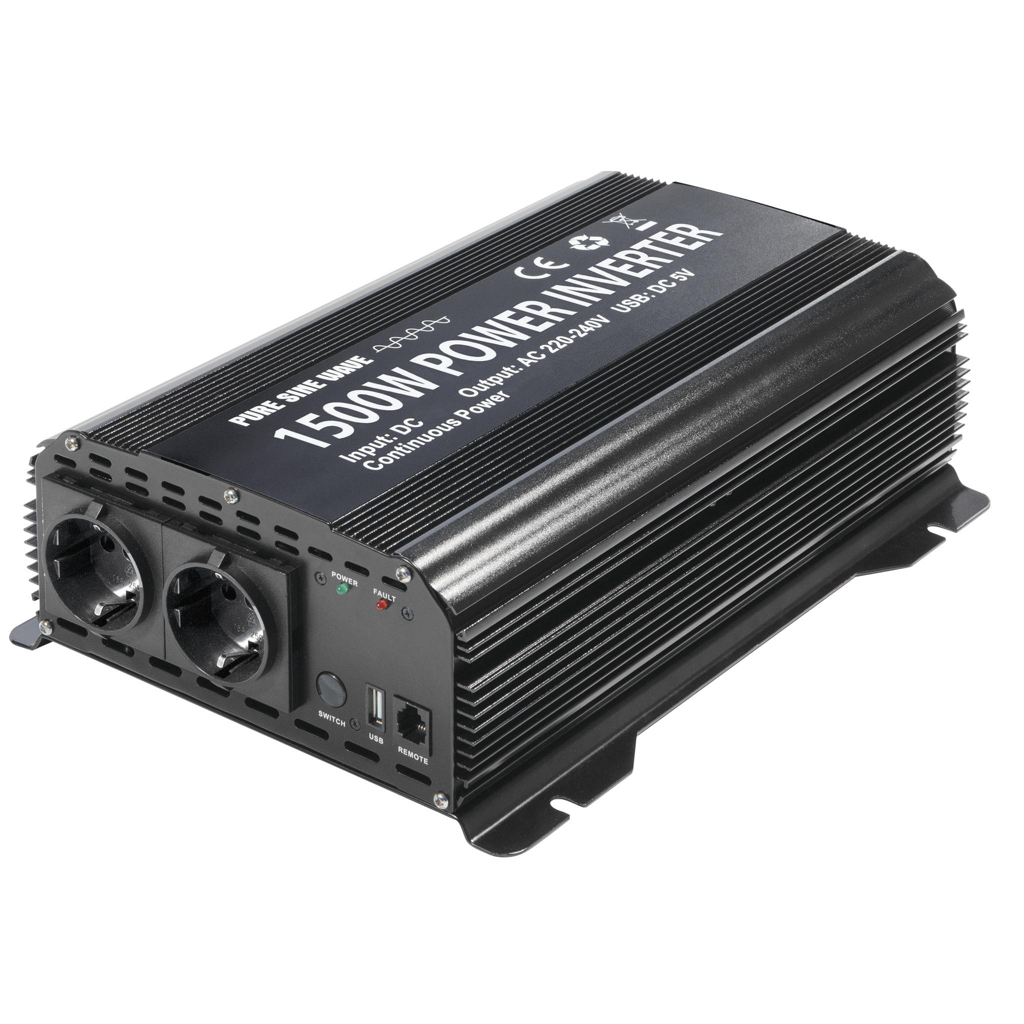 Omvormer-inverter PSW 1500W 12V met remote