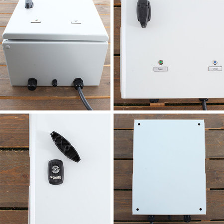 Ratio EV Transformer Smart Charger (3 x 16A -> 1 x 32A) met Kwh meter