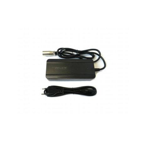 Fiets acculader 36V 2A - 5,5 x 2,1 mm pin + XLR 3-pins Neutrik