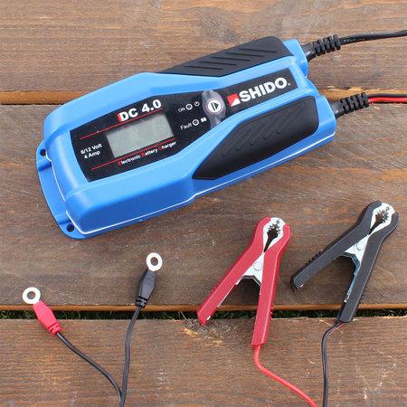 SHIDO DC 4.0 Duo 6V / 12V Acculader/ Druppellader