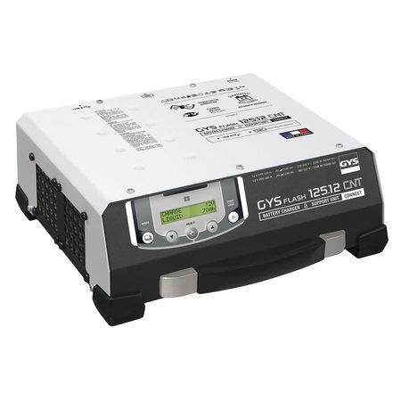 GYS acculader met voeding GYSFLASH 125.12 CNT FV   USB / SMC   120A   5M kabels