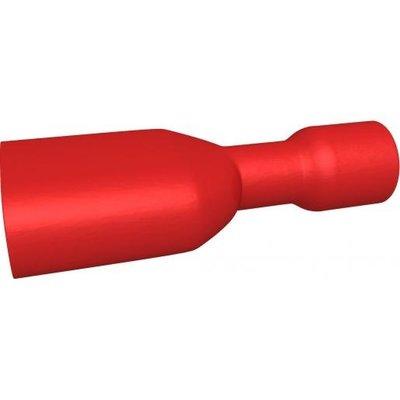 BizLine Kabelschoen/ Vlaksteker Geïsoleerd Vrouwelijk Rood 0,5-1,5mm2 - 6,3 x 0,8 mm