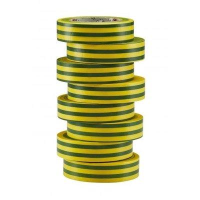 BizLine Vinyltape 15mm x 10m groen/geel
