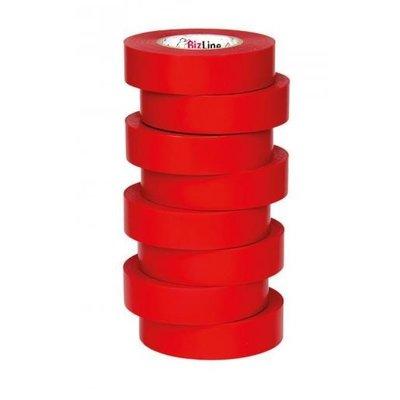 BizLine Hoogwaardige vinyltape 19mm x 20m rood
