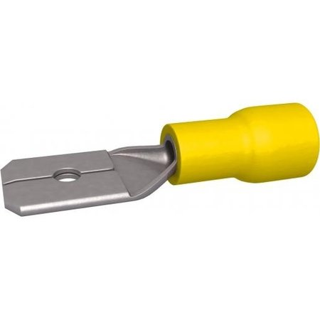 BizLine Kabelschoen/ Vlaksteker Mannelijk Geel 4-6mm2 - 6,3 x 0,8 mm