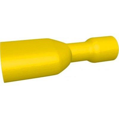 BizLine Kabelschoen/ Vlaksteker Geïsoleerd Vrouwelijk Geel 4-6mm2 - 6,3 x 0,8 mm