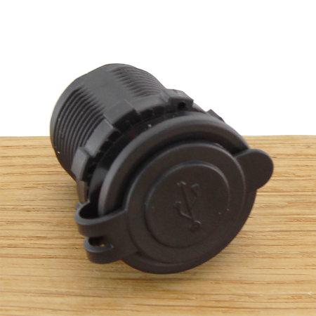 Inbouw USB-lader met cover/ afdichting rond