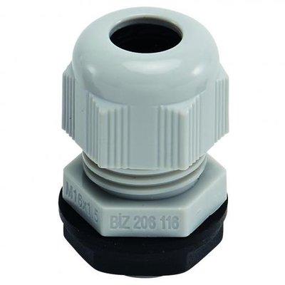 BizLine wartel M12 met moer 3/6,5mm kunststof lichtgrijs