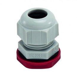 BizLine wartel PG16 met moer 10/14mm kunststof lichtgrijs