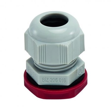 BizLine wartel PG16 met moer | kabelwartel 10/14mm kunststof lichtgrijs