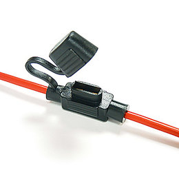 Zekeringhouder Minioto 3.0mm2 rood met beschermkapje