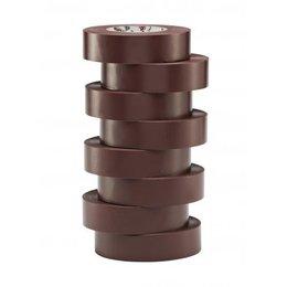 BizLine Hoogwaardige vinyltape 19mm x 20m bruin