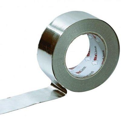 BizLine Zelfklevende tape 50mm x 50m Aluminium Zilver