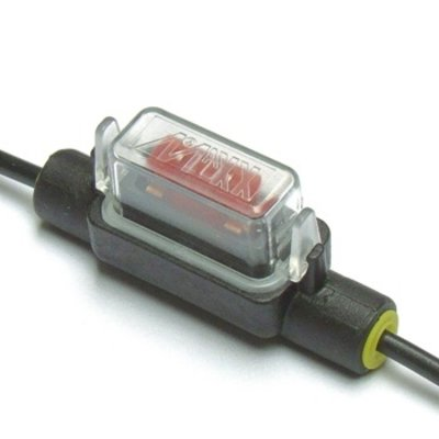 Zekeringhouder Minioto 1.5mm2 zwart met beschermkapje LP