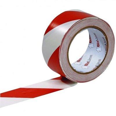 BizLine Zelfklevende markeringstape 50mm x 33m rood/wit