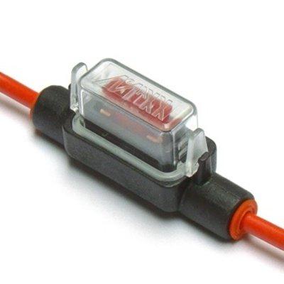 Zekeringhouder Minioto 2.5mm2 rood met beschermkapje LP