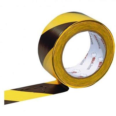 BizLine Zelfklevende markeringstape 50mm x 33m zwart/geel